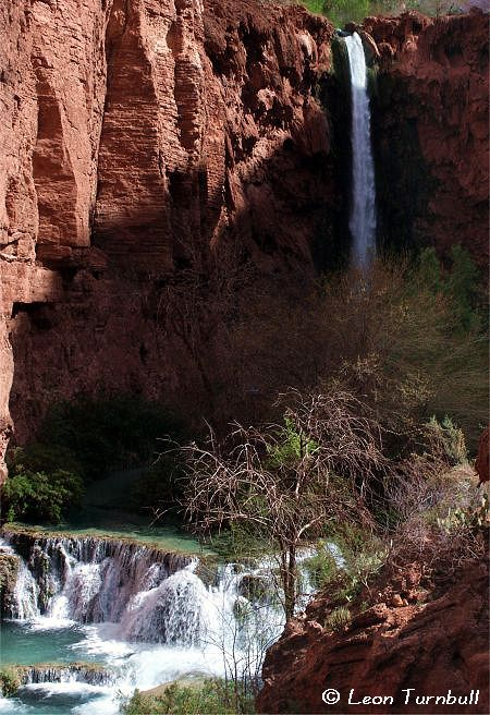 Image 3 of 5<br />Mooney Falls and Lower Mooney Falls
